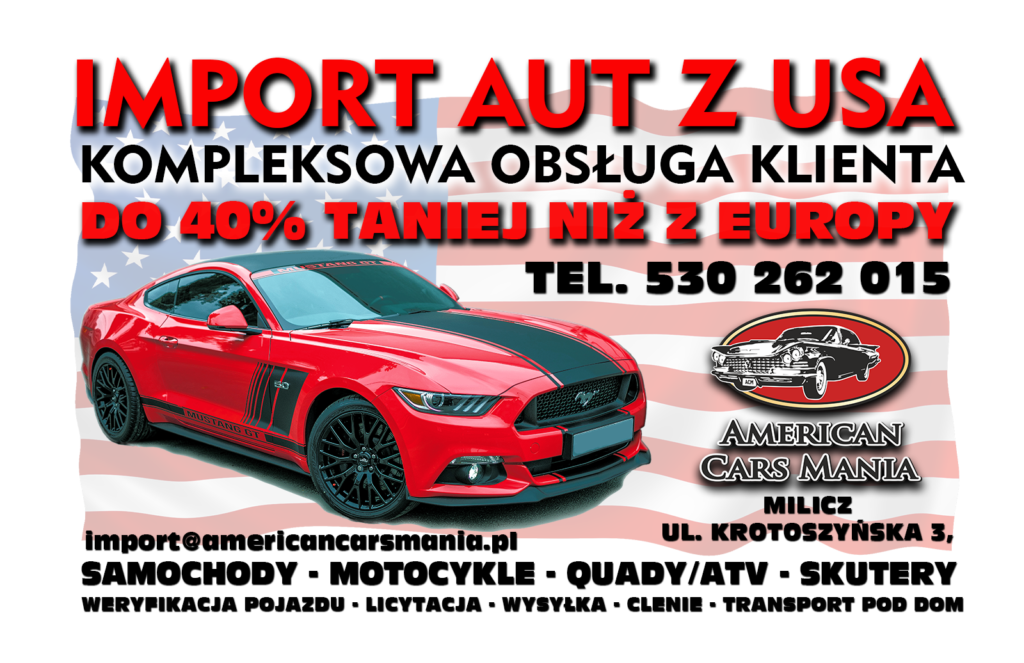 american cars mania , import aut z usa